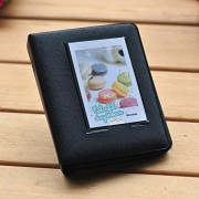 iCasso Candy Color Fuji Instax Mini Book Album for Instax Mini7s 8 25 50s Film---Black