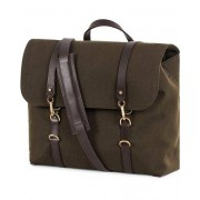 Mismo M/S Satchel Nylon Messenger Bag Pine Green/Dark Brown
