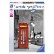 Ravensburger 19475 - Puzzle 1000 Pezzi, London Big Ben e Cabina Telefonica, Cartone
