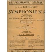 Symphonie N°6 ( Pastorale ) En Fa Majeur. 3e - 4e Et 5e Parties Reunies.