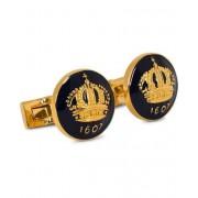 Skultuna Cuff Links The Crown Gold/Royal Blue