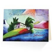 A la casa de Jehova... - Salmo 122:1 - (Tarjeta postal teocratica)