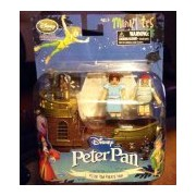 Disney MiniMates Peter Pan Jolly Rodger Pirate Ship Playset Figurine Wendy Mr Smee