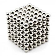 5mm Puzzle de bolas de juguete magnetico - plata (216 PCS)