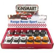 12 pcs in Box: 5 Range Rover Sport SUV 1:38 Scale (Black/Orange/Red/Silver)