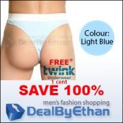 Twink Solid G String FREE Men's Underwear Light Blue
