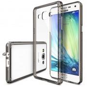Husa Protectie Spate Ringke FUSION Smoke Black plus folie Invisible Screen Defender pentru Samsung Galaxy A3