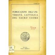 Pubblicazioni Dell'universita Cattolica Del Sacro Cuore