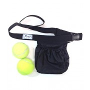 SMACD NEW - Tennis Ball Holder Bag | SPORTS & TRAVEL HIP PACK - Black | Pickleball Holder | PERFECT TRAVELING AIRPORTS (Tennis Balls, Pickle Balls, iPhone, Keys, Passport) Pocket For Every Purpose (PFEP)