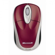 Microsoft Wireless Notebook Optical Mouse 3000 - Pomegranate Red