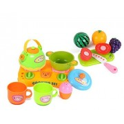 Mini Shopping Basket With Pieces Of Fruit And Vegetables Kitchen Fun Cutting Fruits & Vegetables Food Playset For Kids