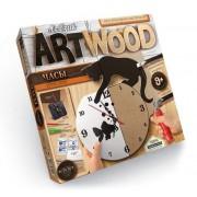 Набор креативного творчества ARTWOOD настенные часы Киса
