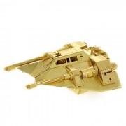 Montado DIY 3D Puzzle Coaster nieve metal modelo de juguete - Golden