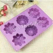 Tava din silicon 6 flori
