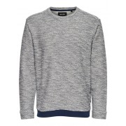 ONLY & SONS Solid Sweatshirt Man Grå