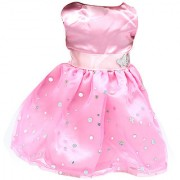 Magideal Pink Sequins Sleeveless Butterfly Dress For 18 Inch American Girl Dolls