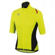 Sportful Fiandre Light NoRain Short Sleeve Jersey - Yellow Fluo/Black - XXL