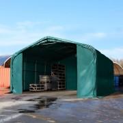 Profizelt24 Lagerhalle 6x6m PVC dunkelgrün Zelthalle, Lager, Industriezelt