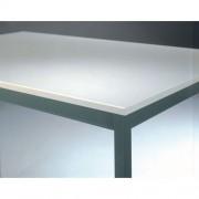 Kantinetafel Gourmet - Grijs kader - 120 x 80 cm