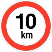 Verbodsbord - ''''Snelheid beperkt tot 10 km/u'''' - Zelfklevend