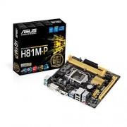ASUS H81M-P Intel H81 Socket H3 (LGA 1150) Micro ATX - cartes mères (DIMM, DDR3-SDRAM, Dual, Intel, Celeron, Core i3, Core i5, Core i7, Pentium, Socket H3 (LGA 1150))