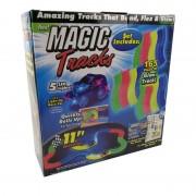 Magic Tracks Bend Flex Glow Dans Le Dark Assembly Toy 165pcs Race Track + 1pc Led Car Cadeau Pour Enfants Jouets Éducatifs Créatifs