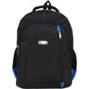 SuiDhaga 18 Inches Mattie Black+Blue Casual Laptop Backpacks Contains 2 Main Compartments & Two Other Front Zippered Pockets 33.511 L Laptop Backpack(Multicolor)