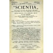 Scientia, Year Xx, Vol. Xxxix, N° Clxviii-4, Serie Ii, 1926, Rivista Internazionale Di Sintesi Scientifica, Revue Internationale De Synthese Scientifique, International Review Of Scientific ...