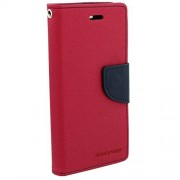 Epayista Mercury Goospery Fancy Diary Card Wallet Flip Case Back Cover for Samsung Galaxy S Duos S7562/ GT- S7562/ S7582 (Hot Pink)