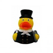 Lilalu sweep Mini Rubber Duck Bath Toy (Red)