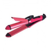 V and G 2 in1 Hair Beauty Set Curler and Straightener NHC-2009