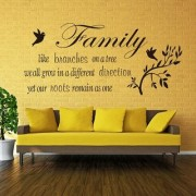 Pvc Family Like Branches Wall Quote Wall Decal (39X31 Inch)