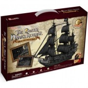 3d Puzzle Queen Anne's Revenge Large Cubicfun T4018h 308 Pieces Decorative Exiting Fun Educational Playing Building Game Kids Best Gift Toy by CubicFun