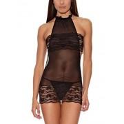 INTIMAX Body Sabina Negro Conjunto body y tanga para mujer, color negro, talla L/XL