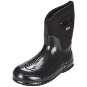 Bogs Classic Mid Rain Boots Women black shiny 2016 42 Gummistiefel