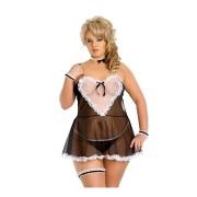 Lola sexy kostim sobarice za punije dame SLC0117414