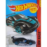 Hot Wheels, 2015 Hw Race, Aston Martin Vantage Gt3 [Black] Die Cast Vehicle #149/250