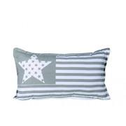 Out of the blue-Stars and Stripes-Cuscino per il collo, colore: grigio