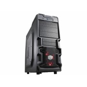 "CARCASA COOLER MASTER K380, window version, mid-tower, ATX, 1* 120mm red LED fan (inclus), I/O panel, black ""RC-K380-KWN1"""