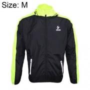 ARSUXEO 007A Warm Male Biking Racing Jacket Coat Waterproof Windproof Long Sleeve Outdoor Clothes Size M(Green)