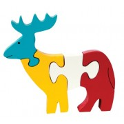 Skillofun Wooden Take Apart Puzzle Reindeer, Multi Color