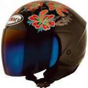 Capacete SUOMY JET LIGHT FLOWER BLACK