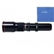 Vivitar 500mm f/8 Telephoto Lens For Canon Digital EOS Rebel SL1 (100D) T5i (700D) T4i (650D) T3 (1100D) T3i (600D) T1i (500D) T2i (550D) XSI (450D) XS (1000D) XTI (400D) XT (350D) 1D C 70D 60D 60Da 50D 40D 30D 20D 10D 5D Mark II III 1D X 1D C 1D Mark IV