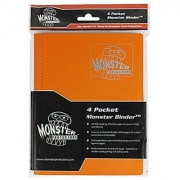 Monster Binder - 4 Pocket Trading Card Album - Matte Orange (Anti-theft Pockets Hold 160+ Yugioh Pokemon Magic the Gathering Cards)
