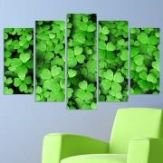 Декоративeн панел за стена с флорален мотив с четирилистни в зелено Vivid Home