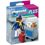 Playmobil Flight Attendant With Service Cart