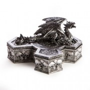 Dragon on Cross Trinket Box
