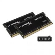Kingston 32GB DDR4-2400MHz SODIMM CL14 HyperX Impact Black Series (2x16GB)