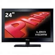TV MONITOR LED 24 PHILCO HD HDMI VGA Conversor Digital USB