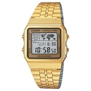 Casio Vintage Square Digital Watch Gold